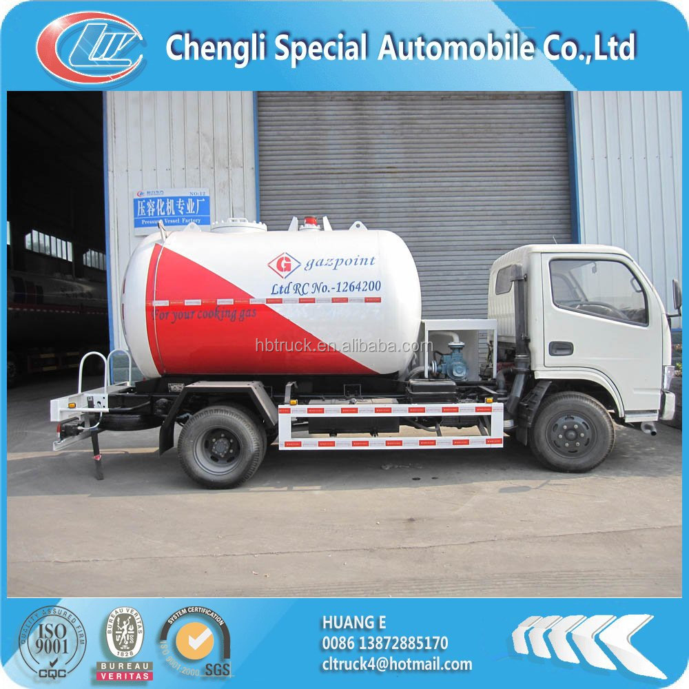 Dongfeng small 5m3 cooking gas refilling truck