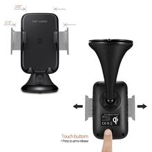 New technology super fast charging qi wireless car charger for iPhone