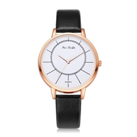Top Luxury Brand Business Quartz Watches Simple Fashion Leather Dress Female Wristwatch Creative Ladies Clock
