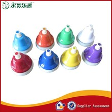 colorful 8 tones hand bells for educational musical instrument percussion hand bell