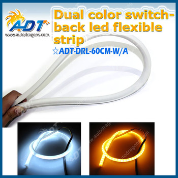Dual Color Flexible Strip LED Flexible Daytime Running Light Daylight LED turning light Turn Light Width Light