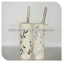 Bamboo Design Toilet brush holder for bathroom