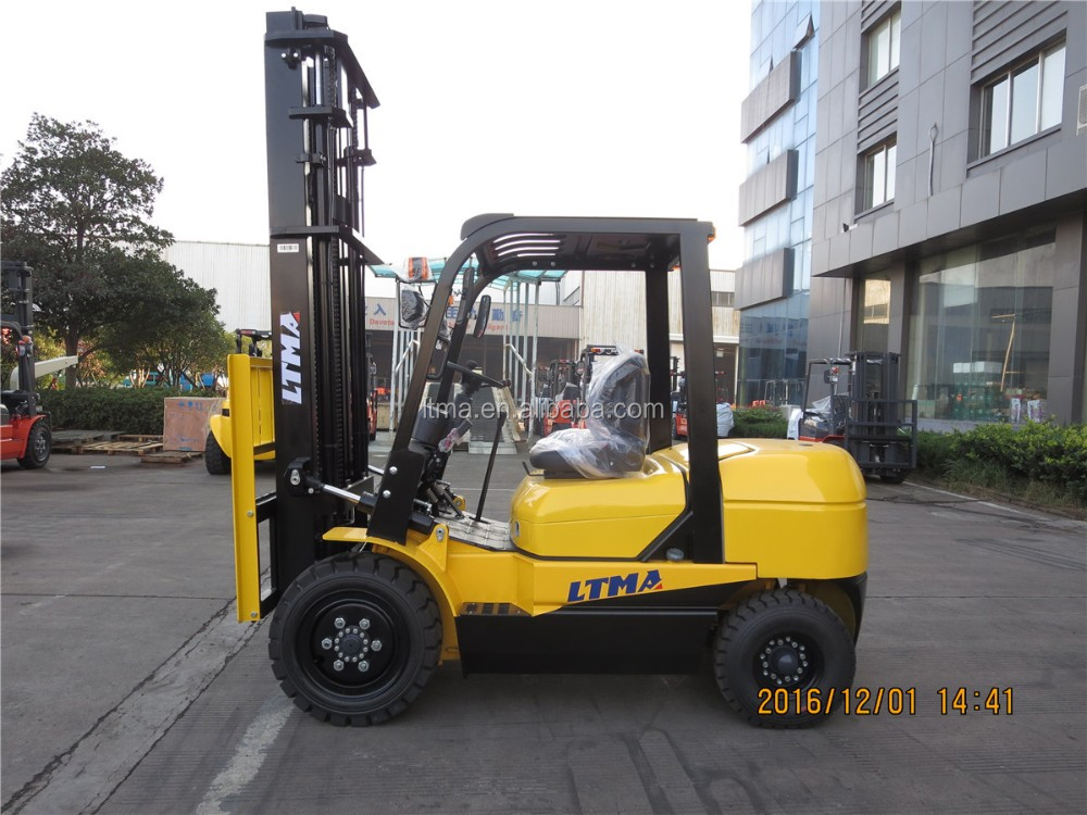 Mechanical transmission 3 ton diesel forklift with 2 stage mast