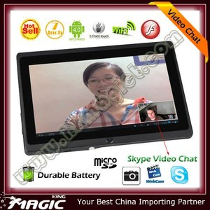 Qualified durable battery cheap tablet pc skype video call