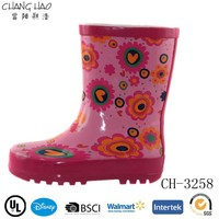 Kids Rain Boots Children Rubber Rain Boots Wellies Boots with Flower Printing