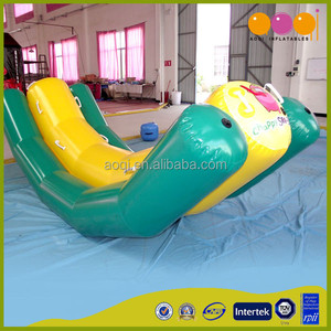 AOQI interesting commercial use outdoor durable inflatable water seesaw for kids