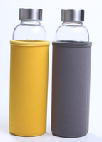 borosilicate glass bottles 550ml with stainless steel lid