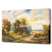 Village painting art wall hanging scenery