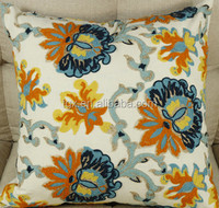Wholesale Custom High Quality Flower Design Embroidery Cushion Covers