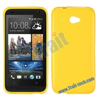 Simple Sold Color Frosted TPU Cover Soft Case for HTC Desire 601