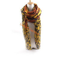 "Spring Fashion Lady Floral Printed Large Shawl Scarf women scarf Long Voile Chiffon Soft Rose Scarves 180*90cm/70.8""*35.45"""