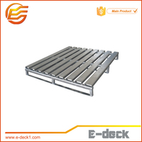 Factory selling heavy duty stainless steel galvanized stackable metal pallet stackable pallet for warehouse storage