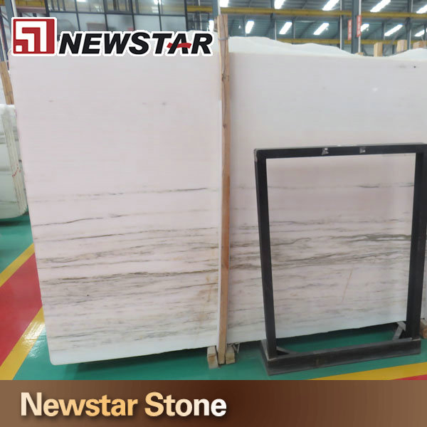 light green veins strip white marble for flooring