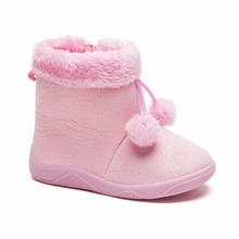 2017 Stylish New Design Kids Lovely Winter Outdoor Indoor Girls Pink Shoe With Rubber Sole