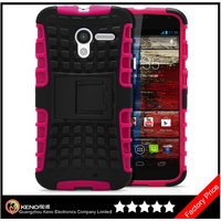 Keno Heavy Duty Strong Silicone Cover For Motorola Moto X Phone XT1055 XT1058 XT1060 Tough Hard Case PC+TPU Shockproof