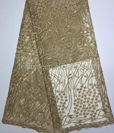New concept GOLD lace fabrics african fabrics nigeria guipure cord lace for wedding dress textile 2017 YL631