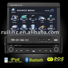"7"" 1 din dvd player for car 3D Animation UI"