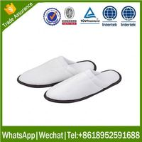 disposable customized guest slipper new design hotel nylon slipper for home and hotel with printing logo