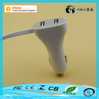 Factory direct sale Dual USB port 5V 2.4A quick charge car charger for iphone and android