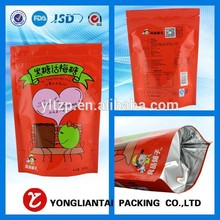 zip lock stand up pouch with zipper top/ plastic stand upzipper bag with window