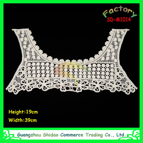 Wholesale High Quality 100% Cotton Embroidery Lace Neck Collars