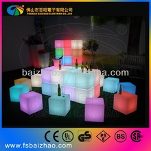 Factory direct waterproof led light cube/led cube chair for pool bar garden home decoration
