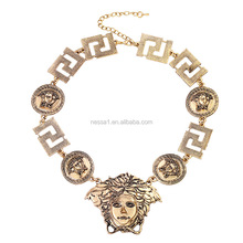 Women Fashion Jewelry Alloy Gold Sliver Color Gold Necklace Designs 2017 ZQ-0023
