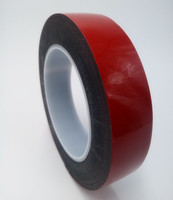 Automotive Car use Black foam color Red liner Strong adhesive double sided Acrylic foam tape