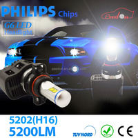 Qeedon 2015 compititive price moto 9006 led headlamp h7 with no fan dsign