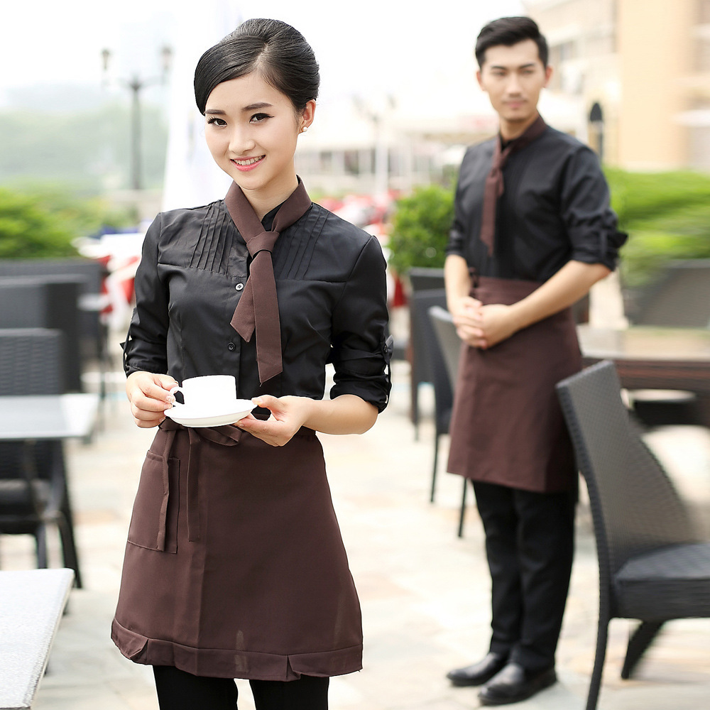 Fashion Design Hotel Restaurant Waiter Uniform Waitress Uniform Wholesale