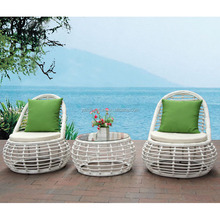 3pcs bistro set outdoor garden synthetic rattan wicker night club furniture
