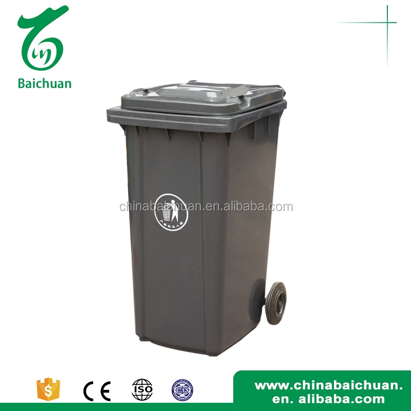 240L Push open reasonable price garbage can cart