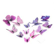 12pcs 3D Butterfly Wall Sticker 3D Art Design Decal 3d wall stickers Home Decor Room Decorations