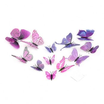 Pcs D Butterfly Wall Sticker D Art Design Decal D Wall - Butterfly wall decals 3d