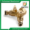 High quality top sell 3 way brass hose connector with valve