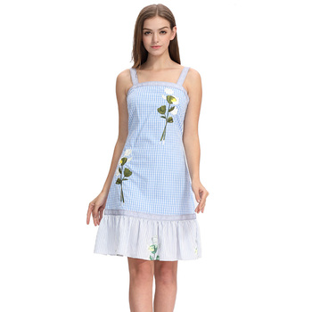 Latest summer women's embroidery dress design