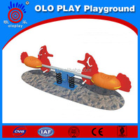 High quality outdoor playground seesaw play equipment plastic seesaw seat