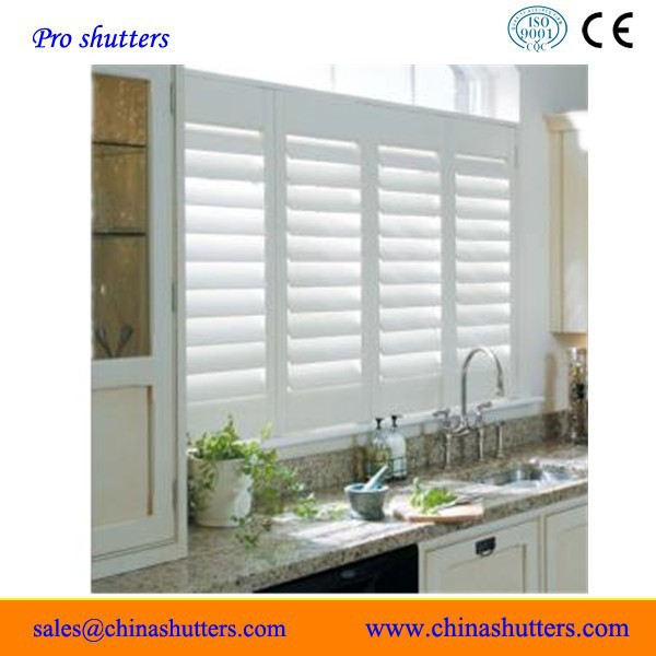 2015 (CE)High quality wood Direct mount window shutter/plantation shutters from china