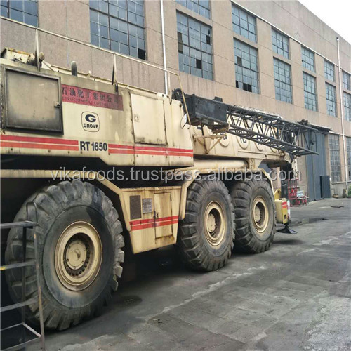 Good quality used/secondhand 150t Grove RT1650 rough terrain crane Germany made sale in Shanghai