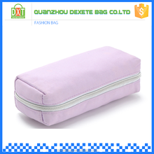 Wholesale women pink zipper organic cotton cosmetic bag