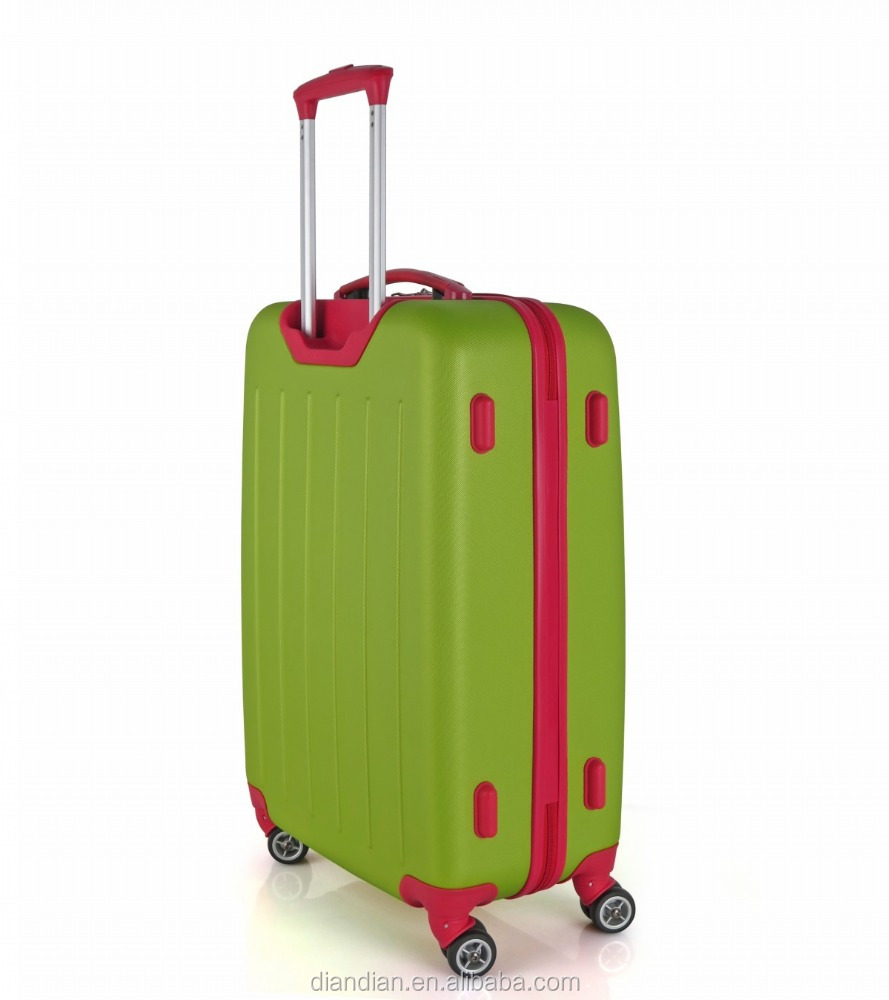 2016 Latest design cheap abs luggage trolley bags DC--9119B