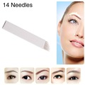 CHUSE S14 PE Manual Eyebrow Tattoo Needles 14 Diagonal Needles/ S14 Microblading Needles
