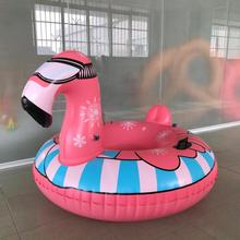 giant flamingo inflatable snow tube winter sled ride pool float new design snow tube