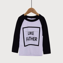 <strong>Boy's</strong> shirt High quality cotton matching Like father <strong>t-shirt</strong> family clothes