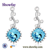 18903 gemstone with CE certificate crystal ball woman 's earring