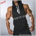 wholesale 100% cotton design your own logo custom mens gym sleeveless hoodie