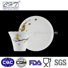 A057 Fashion ceramic golden cup of coffee and tea