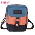 Manufacturer wholesale small phone bag vintage canvas messenger crossbody bag multifunction travel satchel bags women