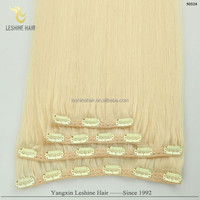 "Private Label Top Quality No Shedding No Tangle No Dry Remy Human Hair 20"" 200 gram clip in extensions"