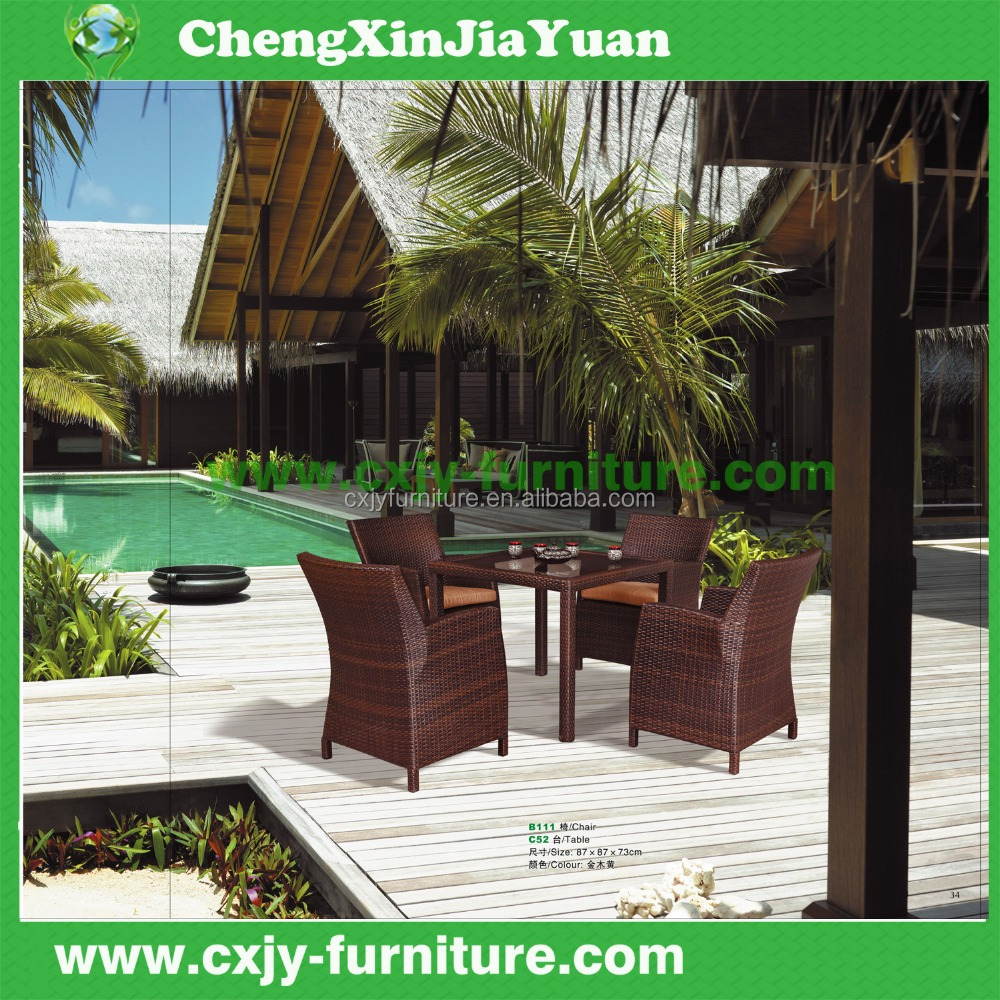 china garden furniture outdoor restaurant chairs rattan terrace furniture